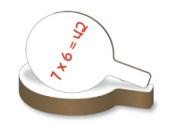 Flipside 10032 Dry Erase Answer Paddle - Case of 24