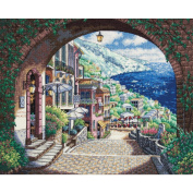 "Dimensions Gold Collection ""Coastal View"" Counted Cross Stitch Kit, 18-count, 38cm x 30cm"