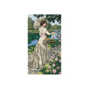 "Dimensions Gold Collection ""A Summer Stroll"" Counted Cross Stitch Kit, 25.4cm x 45.7cm"