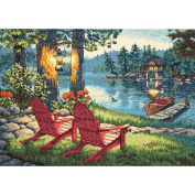 "Dimensions Gold Collection ""Twilight's Calm"" Counted Cross Stitch Kit, 41cm x 28cm"