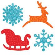 Go! Fabric Cutting Dies, Sleigh & Snowflakes