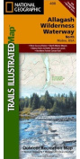 National Geographic Maps TI00000400 Allagash Wilderness Waterway North Map