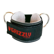 "Grizzly Fitness 8600-04 3"" Leather Ankle Strap"