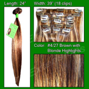 Brybelly Holdings PRST-24-427 No. 4-27 Dark Brown with Golden Blonde Highlights - 60cm