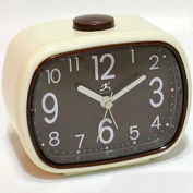 Infinity Instruments 13229IV-2449BR That 70s Vintage Brown Alarm Clock