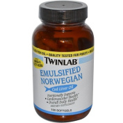 Twinlab 0204800 Emulsified Norwegian Cod Liver Oil - 100 Softgels