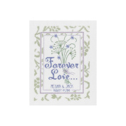 Janlynn 21-1367 Forever Love Wedding Sampler Counted Cross Stitch Kit-20cm . x 41cm . 14 Count