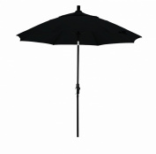 March Products GSCUF908705-SA08 9 ft. Fiberglass Market Umbrella Collar Tilt - Matted Black-Pacifica-Black