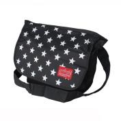 Blancho Bedding MB-B881-BLACK Star Print - Black Multi-Purposes Messenger Bag / Shoulder Bag