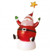 22cm Santa Claus with Star Tabletop Fading Glitterdome Night Light