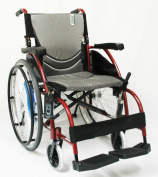 Karman Healthcare S-Ergo105F18RS Ergonomic Wheelchair-Rose Red