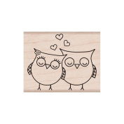 Hero Arts 461264 Hero Arts Mounted Rubber Stamps-Heart Owls Mounted Stamp