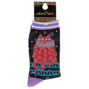 Laurel Burch Women's Indigo Cat Sock