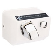 Excel Dryer H76-W Cast Cover Series Hands On Push Button Surface Mounted Hair Dryer - White Epoxy