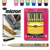 Sakura 30066 8-Piece Pigma Micron Assorted Colours Ink Pen Set