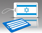Insight Design 770560 TagCrazy Luggage Tags- Israel Flag- Set of Three