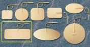 Pepin WTS13 Advantrode Tan Spunlace Electrode - 4.4cm X 9.5cm Rectangle Prewired - 20 Packs Of 4