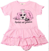Puppy Luv Glam PLG1020_Pink3-6 Baby Ruffle Dress - Pink