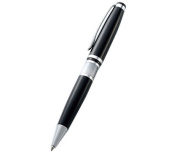 Aeropen International CJ-5301B Ballpoint Pen with Black Lacquer-White Marbleized Barrel