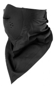 Zan Headgear WNEO114 NeoDanna 100 Percent Cotton Bandanna with Neoprene Black