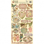 Heartwarming Vintage Cardstock Stickers 15cm x 30cm Sheet-Fairy Enchanting