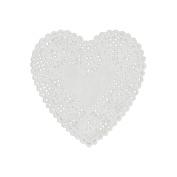 """Paper Doilies 15cm Heart 18/Pkg""""-White"""