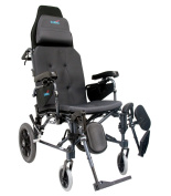 Karman Healthcare MVP502-18-TP Premium Reclining Wheelchair-Diamond Black