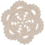 Kaisercraft 462091 Crochet Doilies 8.9cm . 2-Pkg-Cream Scallop