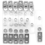 Baumgartens ID Strap Clip Adaptor - 1cm - Vinyl - 12 / Pack - Clear