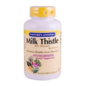 Natures Answer 0124560 Milk Thistle Seed Extract - 60 Vegetarian Capsules