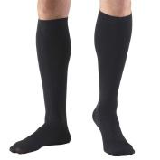 Truform Men's Knee High 20-30 mmHg Compression Dress Socks, Black, X-Large