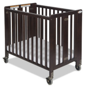 Foundations 1011852 Foundations Full-Size HideAway Folding Fixed-Side Crib Antique Cherry