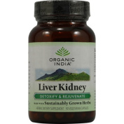 Organic India 0337840 Liver Kidney Detoxify and Rejuvenate - 90 Vegetarian Capsules