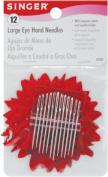 Singer 1824 Large Eye Hand Needles With Magnetic Needle Holder-Assorted 12-Pkg