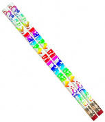 Musgrave Pencil Co Inc MUS1361D Happy Birthday Fiesta 12Pk Pencil