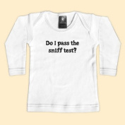 Rebel Ink Baby 315wls612 Do I Pass The Sniff Test- 6-12 Month White Long Sleeve Tee