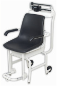 Cardinal Scale-Detecto 4751 Chair Scale Mechanical 400 Lb X 120ml- 180 Kg X 100 G Lift-Away Arms and Foot Rests Oversized Wheels Die Cast Beam