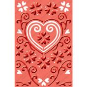 Provo Craft Cuttlebug Embossing Plus Folder, He Loves Me, 10cm x 15cm