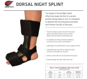 Swede-O Dorsal Night Splint, Black, Small/Medium