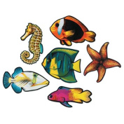 Beistle - 55695 - Pkgd Fish Cutouts- Pack of 12