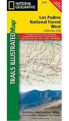 National Geographic Maps TI00000813 Los Padres National Forest West Map