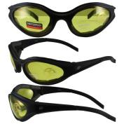 Birdz Eyewear Raven Padded Motorcycle Glasses