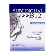 Heaven Sent 0617571 Sublingual B12 with B6 and Folic Acid - 30 Tablets