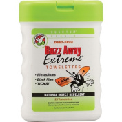 Frontier Natural Products Co-op 223298 Quantum Natural Insect Repellents - Buzz Away Extreme Towellettes 25 count
