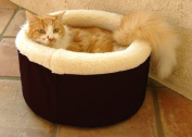 Majestic Pet 788995641209 20 in. Medium Cat Cuddler Pet Bed- Black