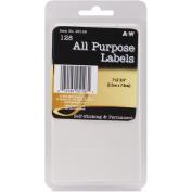 Labels-White All Purpose 2.5cm x 7cm 128/Pkg