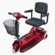 Zipr Mobility ZIPR3XTRARED 3 Wheel Upgraded Travel Scooter - Red