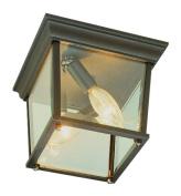 Trans Global Lighting 4905 WH The Standard 3 Light Outdoor Flushmount - White