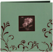 Pioneer MB10CES-A Scroll Embroidery Fabric Postbound Album With Window 30cm x 30cm
