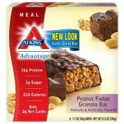 Atkins 0458604 Advantage Bar Peanut Fudge Granola - 5 Bars